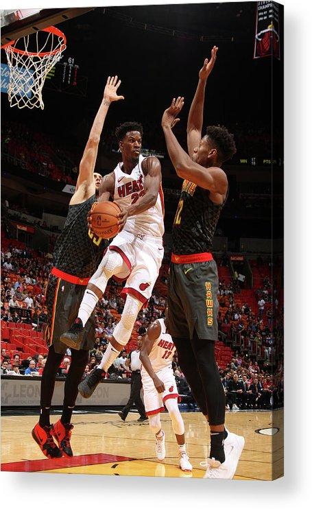 Nba Pro Basketball Acrylic Print featuring the photograph Jimmy Butler by Oscar Baldizon