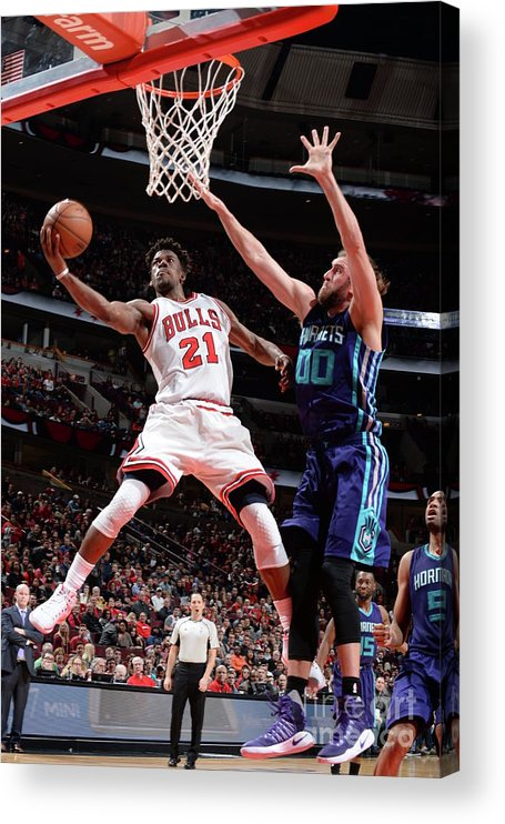 Nba Pro Basketball Acrylic Print featuring the photograph Jimmy Butler by Randy Belice