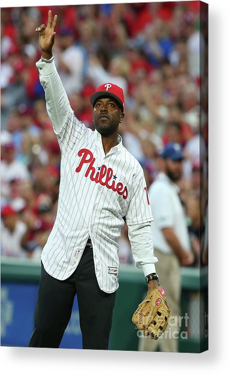 Three Quarter Length Acrylic Print featuring the photograph Jimmy Rollins by Rich Schultz