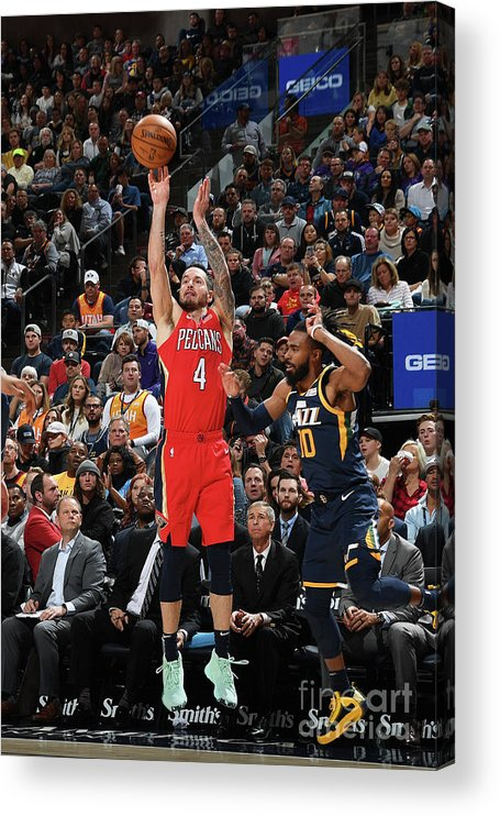 Nba Pro Basketball Acrylic Print featuring the photograph J.j. Redick by Noah Graham