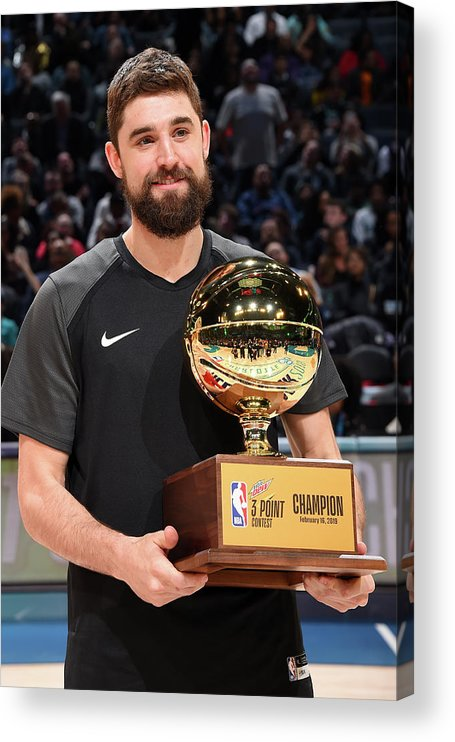Nba Pro Basketball Acrylic Print featuring the photograph Joe Harris by Andrew D. Bernstein
