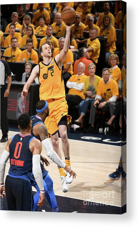 Playoffs Acrylic Print featuring the photograph Joe Ingles by Garrett Ellwood