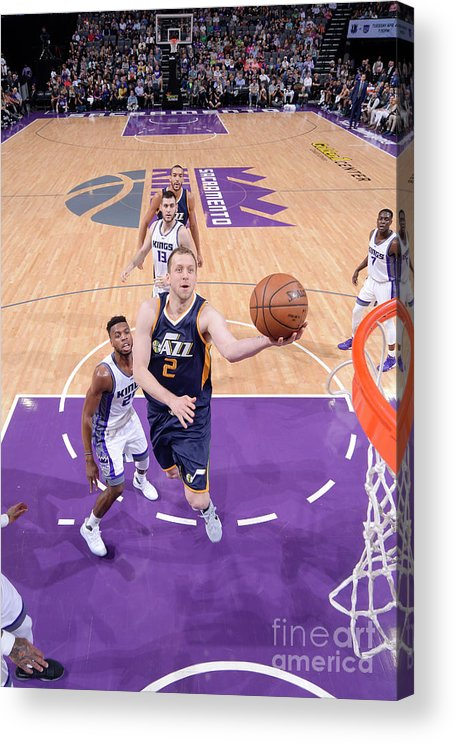 Nba Pro Basketball Acrylic Print featuring the photograph Joe Ingles by Rocky Widner