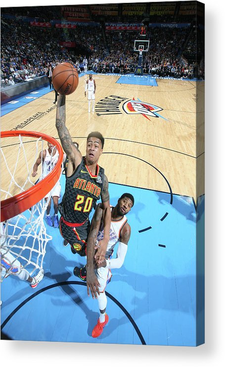 Nba Pro Basketball Acrylic Print featuring the photograph John Collins by Layne Murdoch