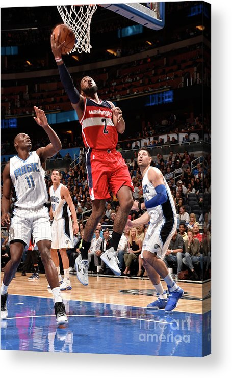 Nba Pro Basketball Acrylic Print featuring the photograph John Wall by Gary Bassing