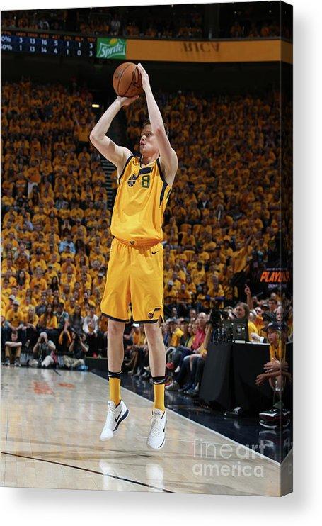 Playoffs Acrylic Print featuring the photograph Jonas Jerebko by Melissa Majchrzak