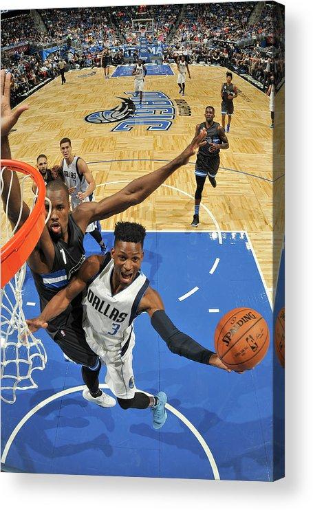 Nba Pro Basketball Acrylic Print featuring the photograph Jonathan Gibson by Fernando Medina