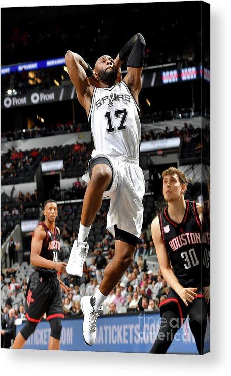Playoffs Acrylic Print featuring the photograph Jonathon Simmons by Jesse D. Garrabrant
