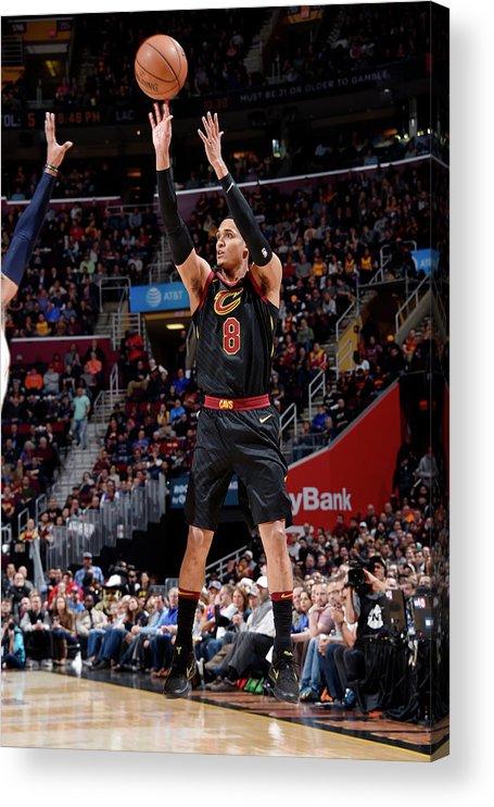 Nba Pro Basketball Acrylic Print featuring the photograph Jordan Clarkson by David Liam Kyle