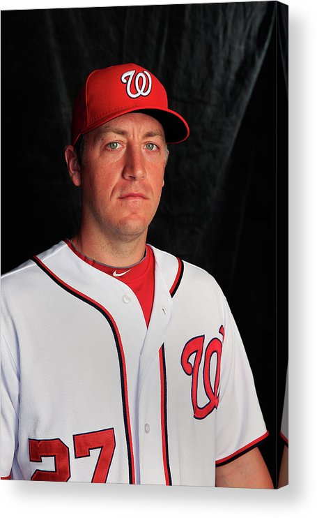 Media Day Acrylic Print featuring the photograph Jordan Zimmermann by Rob Carr