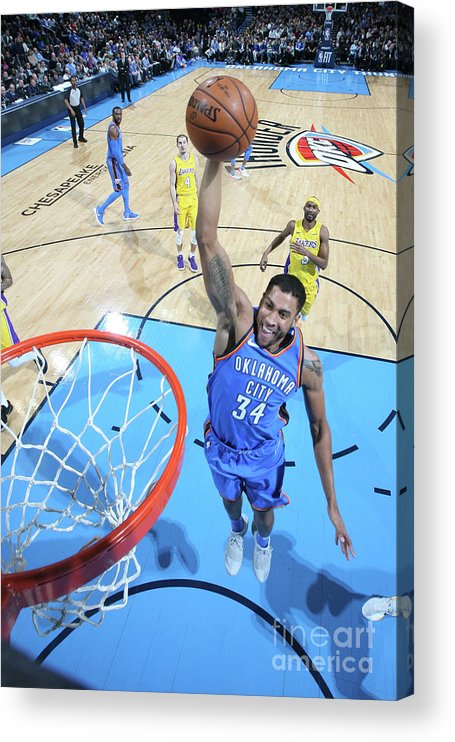 Nba Pro Basketball Acrylic Print featuring the photograph Josh Huestis by Layne Murdoch