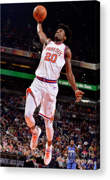 Nba Pro Basketball Acrylic Print featuring the photograph Josh Jackson by Barry Gossage