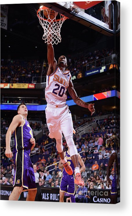 Nba Pro Basketball Acrylic Print featuring the photograph Josh Jackson by Michael Gonzales