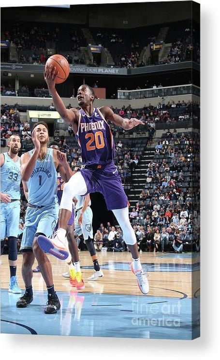 Nba Pro Basketball Acrylic Print featuring the photograph Josh Jackson by Ned Dishman