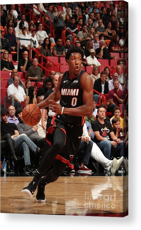 Nba Pro Basketball Acrylic Print featuring the photograph Josh Richardson by Issac Baldizon