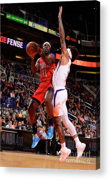 Nba Pro Basketball Acrylic Print featuring the photograph Jrue Holiday by Barry Gossage