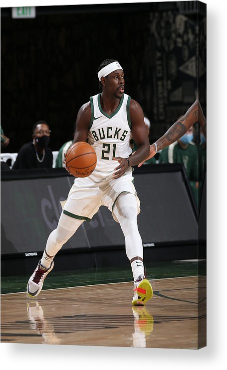 Nba Pro Basketball Acrylic Print featuring the photograph Jrue Holiday by Gary Dineen