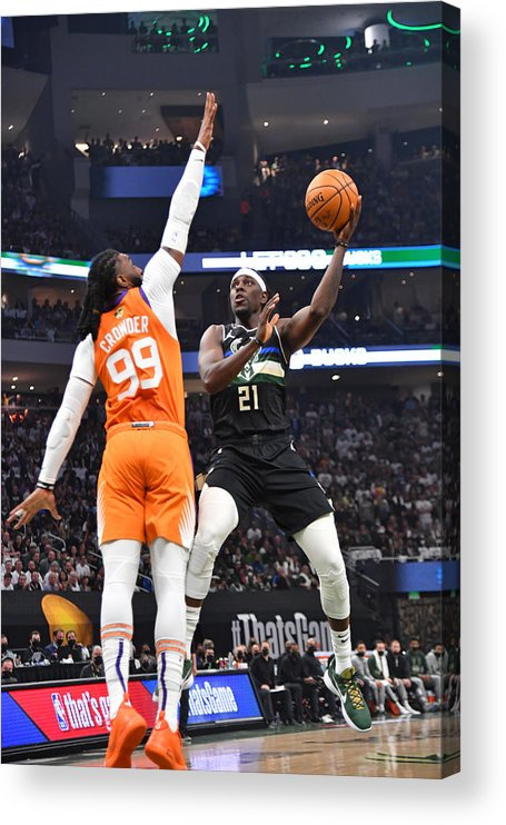 Playoffs Acrylic Print featuring the photograph Jrue Holiday by Jesse D. Garrabrant