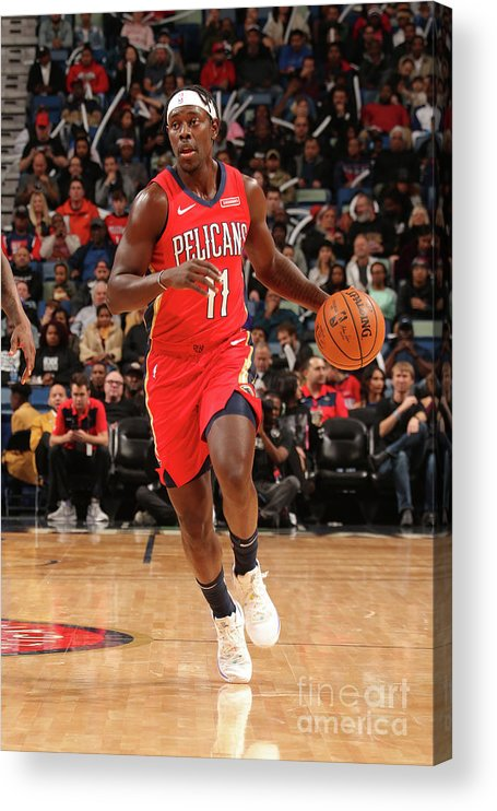 Smoothie King Center Acrylic Print featuring the photograph Jrue Holiday by Layne Murdoch Jr.
