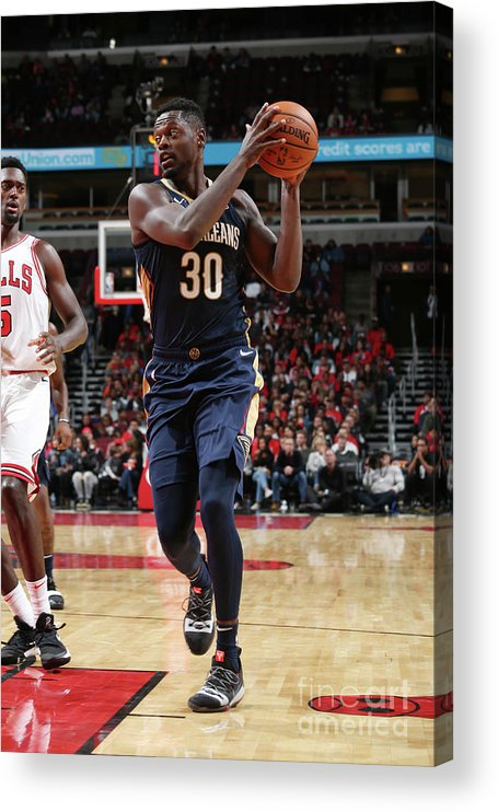 Nba Pro Basketball Acrylic Print featuring the photograph Julius Randle by Gary Dineen