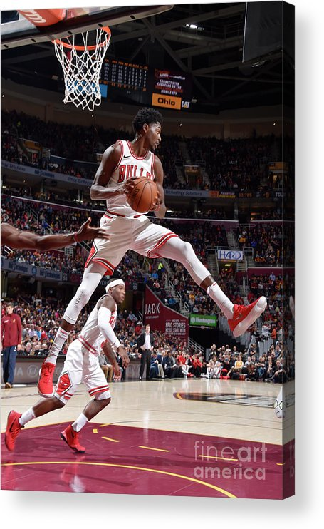 Nba Pro Basketball Acrylic Print featuring the photograph Justin Holiday by David Liam Kyle
