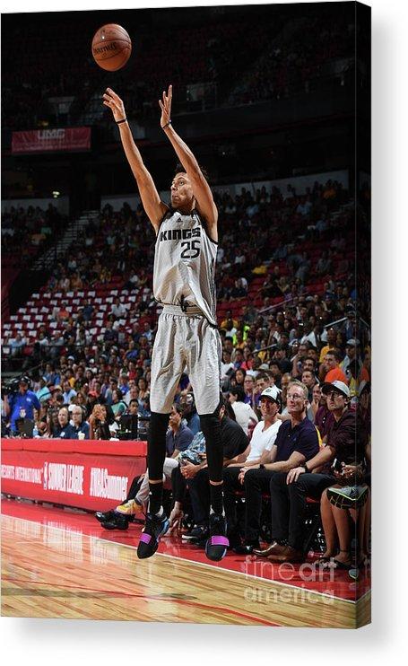 Nba Pro Basketball Acrylic Print featuring the photograph Justin Jackson by Garrett Ellwood