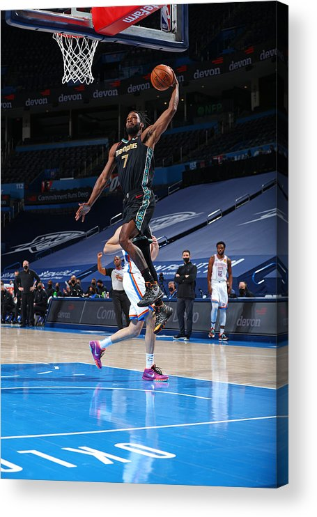Justise Winslow Acrylic Print featuring the photograph Justise Winslow by Zach Beeker