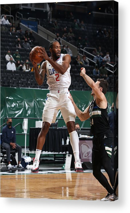 Nba Pro Basketball Acrylic Print featuring the photograph Kawhi Leonard by Gary Dineen
