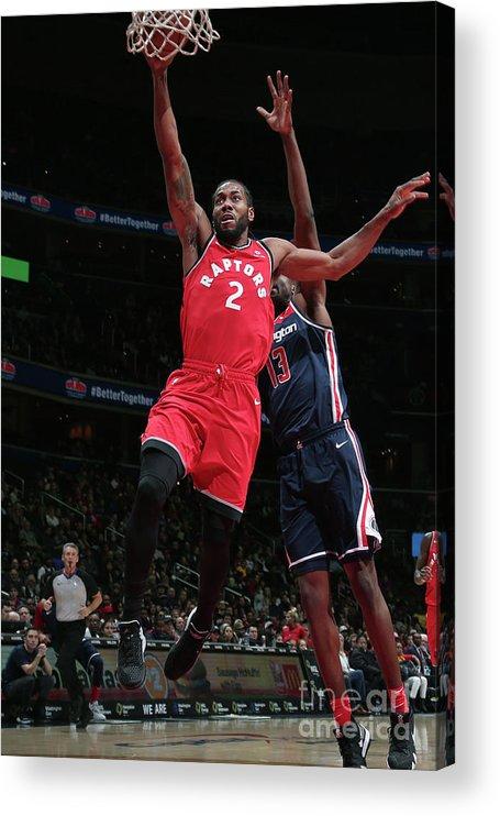 Nba Pro Basketball Acrylic Print featuring the photograph Kawhi Leonard by Ned Dishman