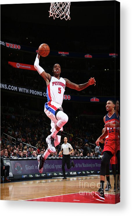Nba Pro Basketball Acrylic Print featuring the photograph Kentavious Caldwell-pope by Ned Dishman