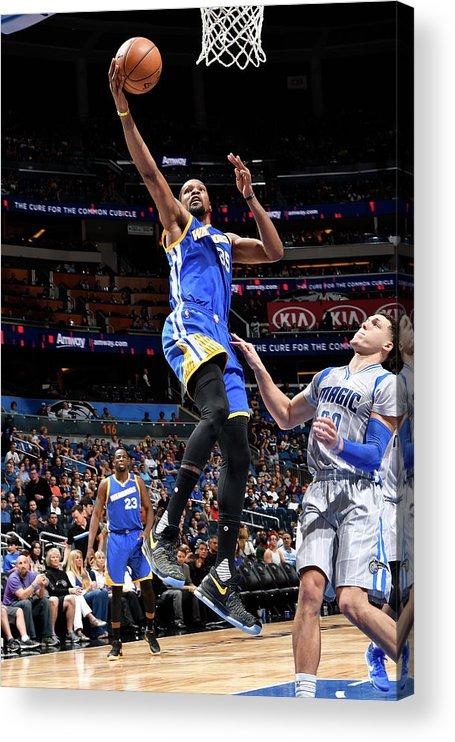 Nba Pro Basketball Acrylic Print featuring the photograph Kevin Durant by Fernando Medina