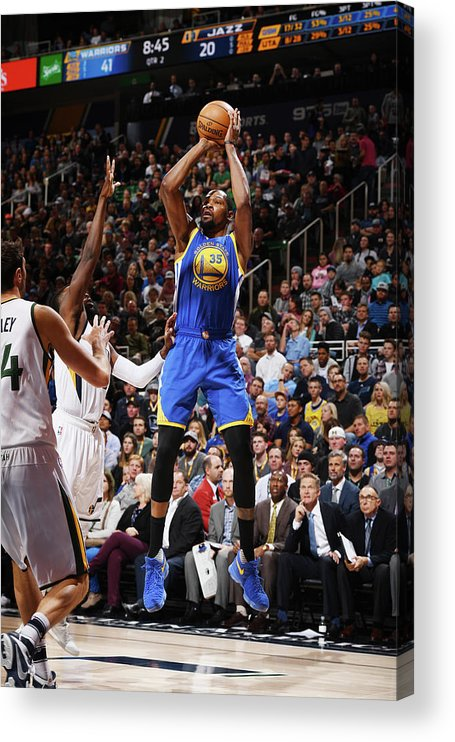Nba Pro Basketball Acrylic Print featuring the photograph Kevin Durant by Garrett Ellwood