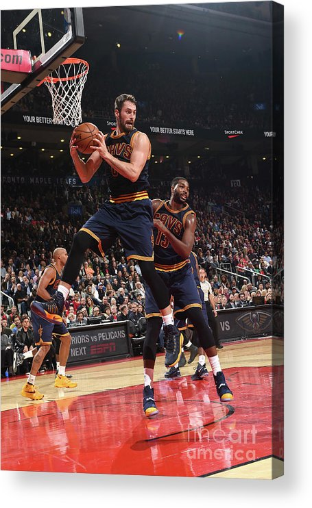 Nba Pro Basketball Acrylic Print featuring the photograph Kevin Love by Ron Turenne