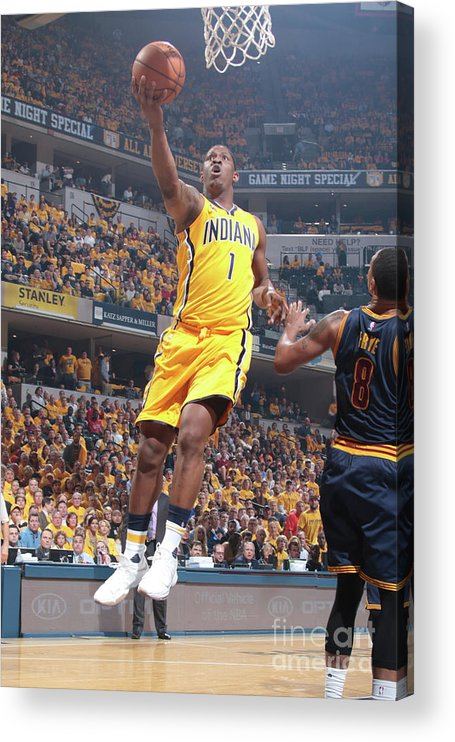 Playoffs Acrylic Print featuring the photograph Kevin Seraphin by Ron Hoskins