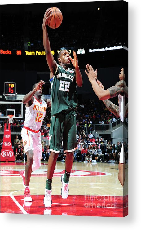 Atlanta Acrylic Print featuring the photograph Khris Middleton by Scott Cunningham