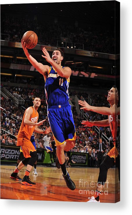 Nba Pro Basketball Acrylic Print featuring the photograph Klay Thompson by Barry Gossage