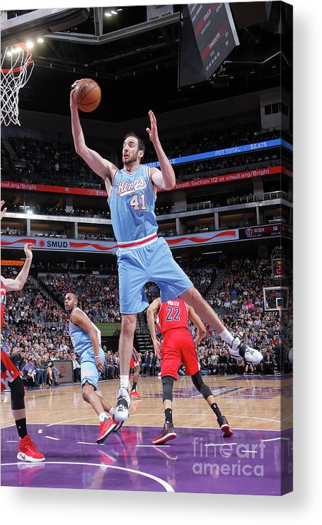 Nba Pro Basketball Acrylic Print featuring the photograph Kosta Koufos by Rocky Widner
