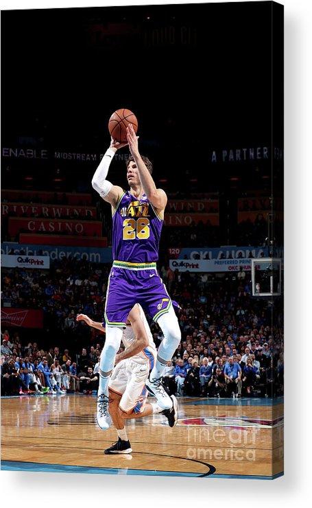 Nba Pro Basketball Acrylic Print featuring the photograph Kyle Korver by Joe Murphy