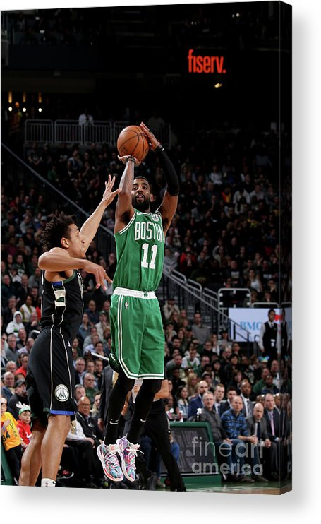 Nba Pro Basketball Acrylic Print featuring the photograph Kyrie Irving by Gary Dineen