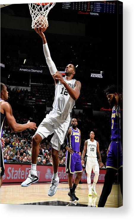 Nba Pro Basketball Acrylic Print featuring the photograph Lamarcus Aldridge by Logan Riely