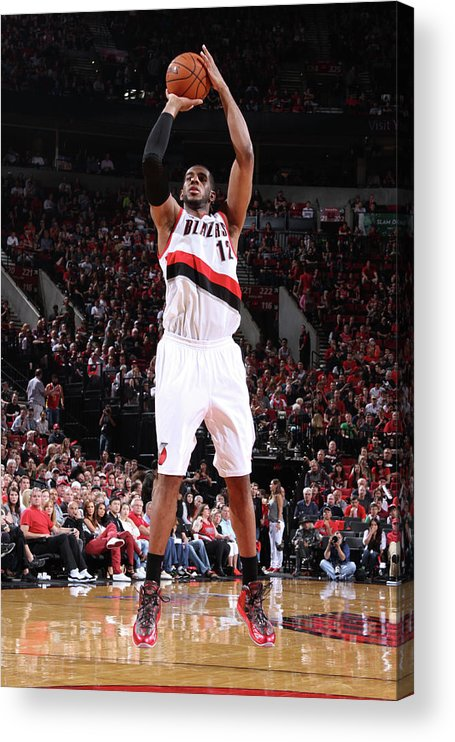 Playoffs Acrylic Print featuring the photograph Lamarcus Aldridge by Sam Forencich