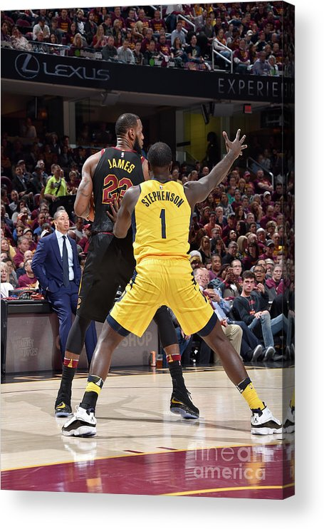 Playoffs Acrylic Print featuring the photograph Lance Stephenson and Lebron James by David Liam Kyle