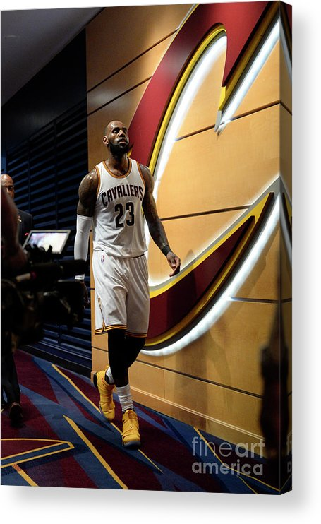 Playoffs Acrylic Print featuring the photograph Lebron James by David Dow
