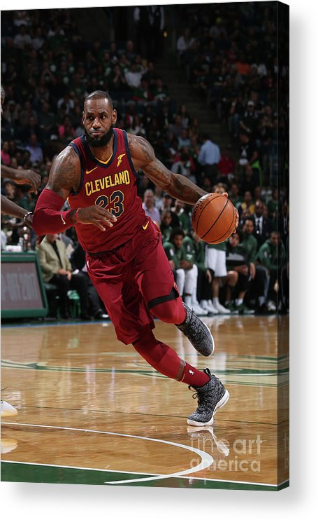 Nba Pro Basketball Acrylic Print featuring the photograph Lebron James by Gary Dineen