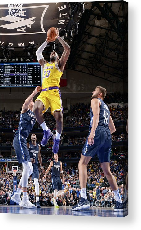 Nba Pro Basketball Acrylic Print featuring the photograph Lebron James by Glenn James