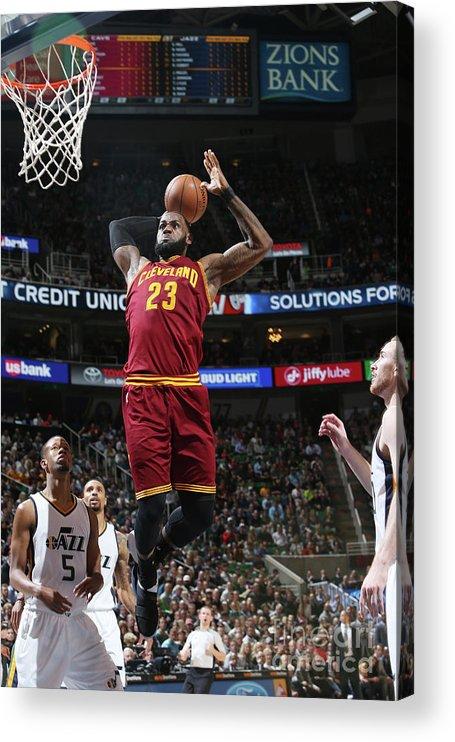 Nba Pro Basketball Acrylic Print featuring the photograph Lebron James by Melissa Majchrzak