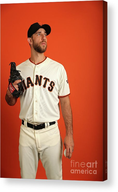 Media Day Acrylic Print featuring the photograph Madison Bumgarner by Patrick Smith
