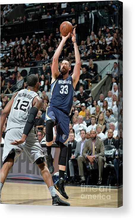 Playoffs Acrylic Print featuring the photograph Marc Gasol by Mark Sobhani