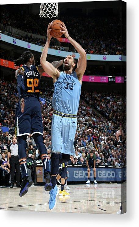 Nba Pro Basketball Acrylic Print featuring the photograph Marc Gasol by Melissa Majchrzak