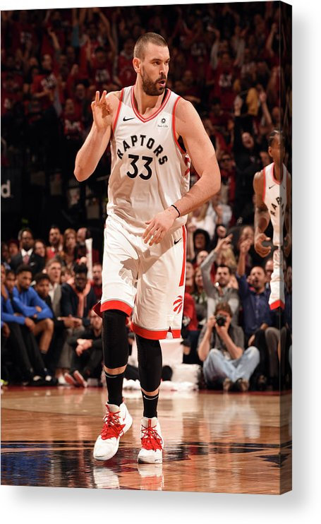 Playoffs Acrylic Print featuring the photograph Marc Gasol by Ron Turenne